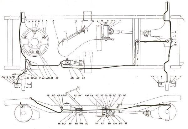 brake_system 600x412 willys jeep parts diagrams & illustrations from midwest jeep willys cj3a wiring diagram at n-0.co